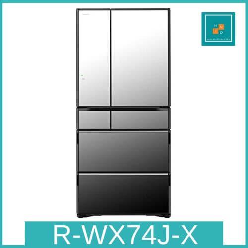 Tủ lạnh Hitachi R-WX74J-X