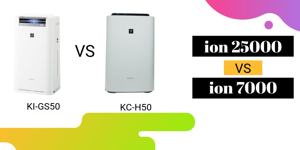 So sánh máy lọc không khí sharp KC-H50 và KI-G50