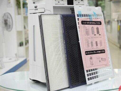 Lọc không khí Sharp KC-J50-W (H) lọc 35m2 có ion Plasma và bù ẩm   hangnhattoday.com