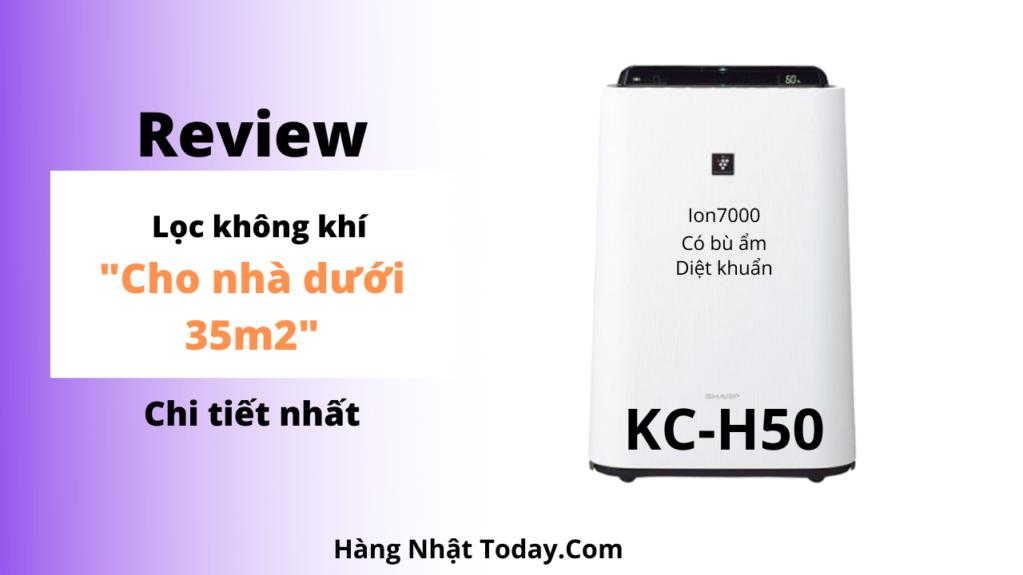 Đánh giá máy lọc không khí Sharp KC-H50-W