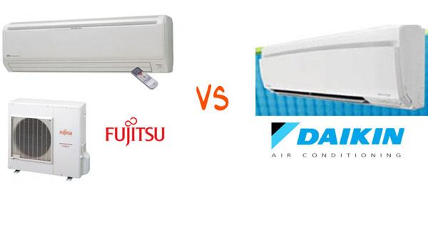 So sánh điều hòa bãi Fujitsu và Daikin