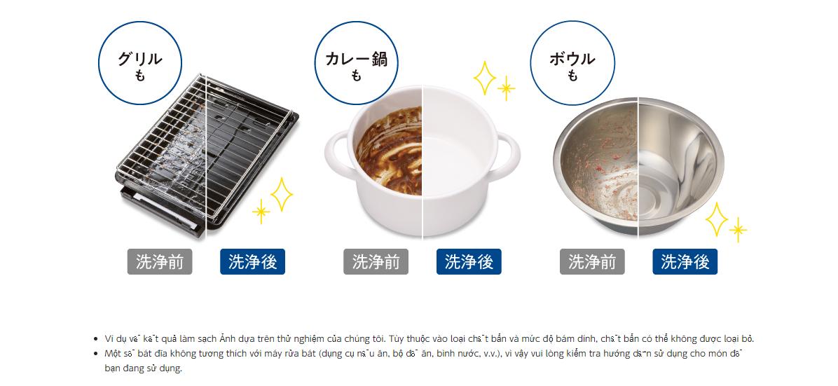 Khả năng rửa sạch của máy rửa bát Panasonic